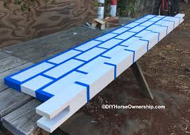 Painting A Wall To Look Like Brick Diy How To Make A Brick Wall Jump U2013 Diy Horse Ownership