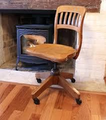 1940s Desk Desk Antique Oak Desk Chair Wheels Solid Oak Office Furniture Uk