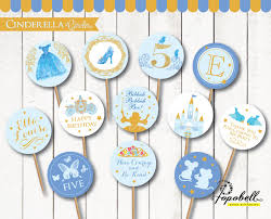 cinderella cupcake toppers cinderella cupcake toppers for cinderella birthday party in