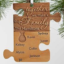 personalized family ornament together we make a family