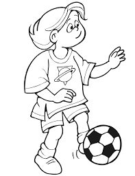 soccer coloring kicking ball