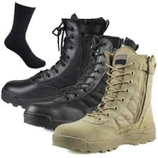 s army boots uk mens leather waterproof boots safety cap work