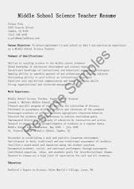 high resume sle for college resume science teacher sle