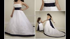 best wedding dress with navy blue belt youtube
