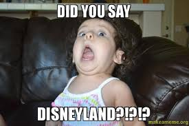 Disneyland Memes - did you say disneyland overly excited baby make a meme