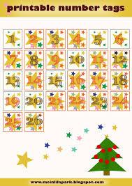 free printable advent calendar numbers zahlen für