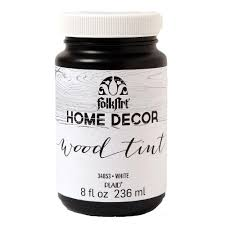 The Home Decor by Folkart Home Decor 8 Oz White Wood Tint Finish 34853 The Home Depot