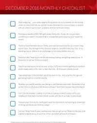 december monthly checklist