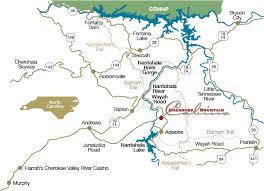 nantahala river map vacation cabis near two indian casinos mountain