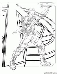 coloring page hawkeye