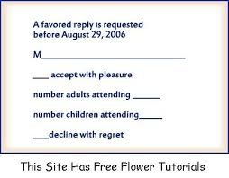 wedding rsvp wording exles exles of rsvp responses wedding rsvp exle rsvp wording