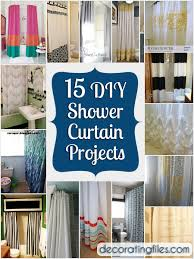 Cloth Shower Curtains 15 Diy Shower Curtain Projects Anyone Can Make