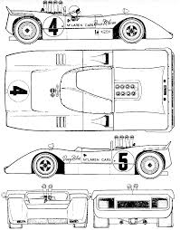 mclaren f1 drawing mclaren m8a can am 1968 racing car blueprint pinterest cars