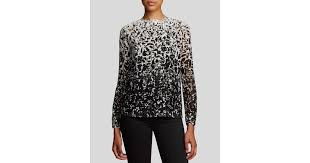 ombre blouse lyst burch ombré floral print blouse in white