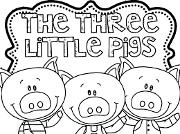 3 little pigs coloring page three and the big bad wolf inside