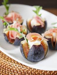goats cheese canape recipes figs with goat cheese and prosciutto and arugula pretty