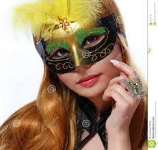 halloween woman mask beautiful with carnival mask halloween stock photo image
