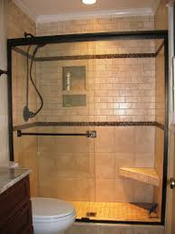 attractive idea of shower room designs with glass tile designed by