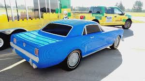 lego porsche life size life size 1964 ford mustang recreated in lego