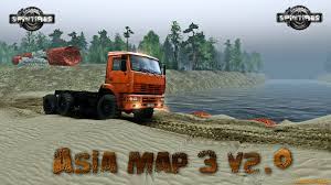 Asia Map Games by Asia Map 3 V2 0 V03 03 16 For Spin Tires 2014 Zagruzka Mods