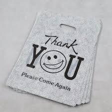 100pcs lot 24 35cm pe thanksgiving smile gifts plastic packaging
