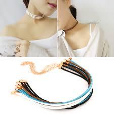 velvet ribbon necklace images Charm black velvet ribbon choker collar chain necklace gothic jpg