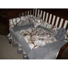 Camouflage Crib Bedding Sets Camouflage Crib Bedding Set W Grey Minky Dot