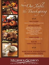 celebrate thanksgiving with mccormick schmick s celebrate