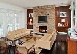 living room fireplace ideas living room admirable mid century modern living room with stone