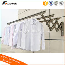 push pull wall mounted clothes drying racks aluminium folding