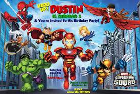 Unique Party Superhero Birthday Party Invitations Theruntime Com