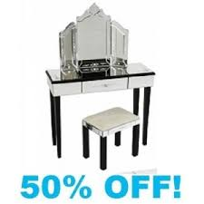 glass vanity table with mirror mirrored glass etched dressing table set