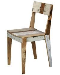 chaise en bois chaise bois recyclé mobilier intérieurs