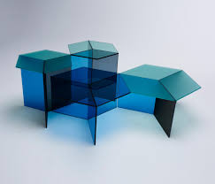 isom oblong blue lounge tables from neo craft architonic