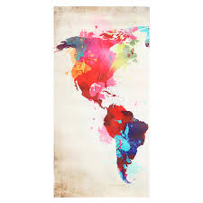 painting home 3pcs colorful world map frameless canvas print mural painting home
