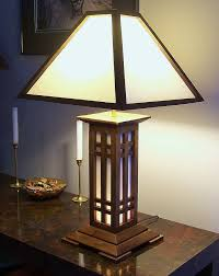 arts and crafts table lamps lighting and ceiling fans