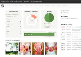 wedding planner tools screen of aisle planner wedding dashboard one day