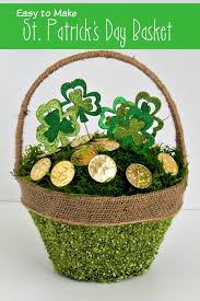 easy to make st patrick u0027s day basket an extraordinary day