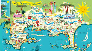 Map Of Provence New 1950s Style Map Of The Greater Toulon Area Designed By