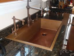 Copper Faucets Kitchen by Kitchen Cute Kitchen Decoration Using Double Bowl Undermount
