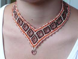 free necklace images Free pattern schema for necklace beaded squares beads magic jpg