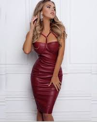 leather dress dress dress burgundy burgundy dress bustier dress