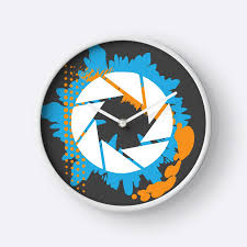 abstract clocks portal abstract aperture logo clocks by sgurf redbubble