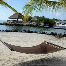 Pawleys Island Hammock Stand Large Mocha Soft Spun Polyester Caribbean Hammock
