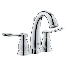 Grohe Customer Service Shop Grohe Parkfield Starlight Chrome 2 Handle 4 In Centerset