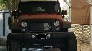 Rugged Ridge Grille Inserts Jeep Jk Rugged Ridge Wrangler Spartan Grille W Skull Insert 12034 33 07