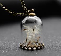 making glass necklace pendants images Never stop making wishes glass bottle dandelion pendant png