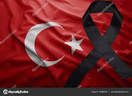 Turkey National Flag Flag Of Turkey With Black Mourning Ribbon U2014 Stock Photo Ruletkka