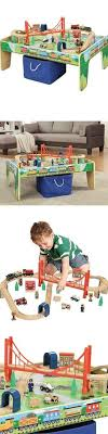 thomas the train activity table and chairs train sets 113519 kidkraft 58 piece transportation station wood