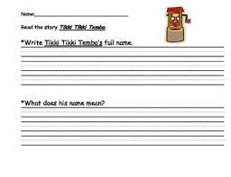 tikki tikki tembo worksheets tikki tikki tembo teaching resources teachers pay teachers